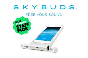 Skybuds:これぞ最終形。コードのないイヤフォン!—kickstarter